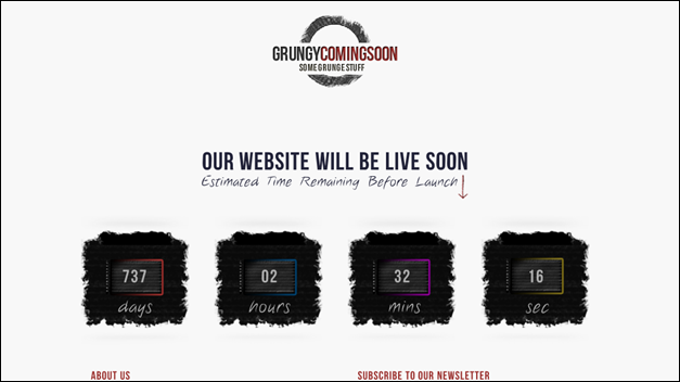 Grungy Coming Soon / Under Construction Page