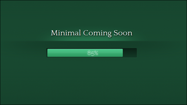 Minimal Coming Soon template