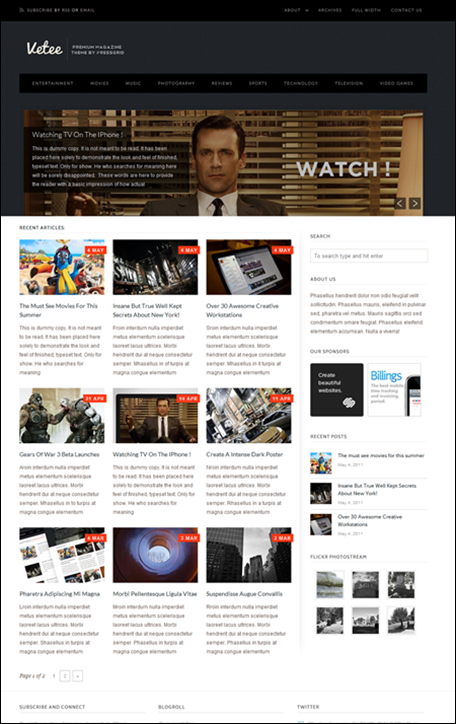 Vetee Magazine WordPress Theme