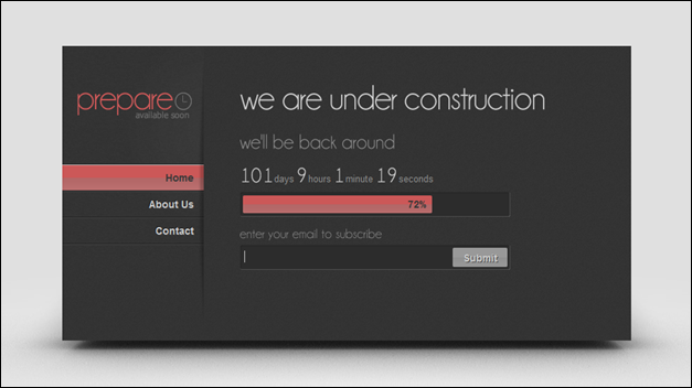 Prepare for Launch - Under Construction Page