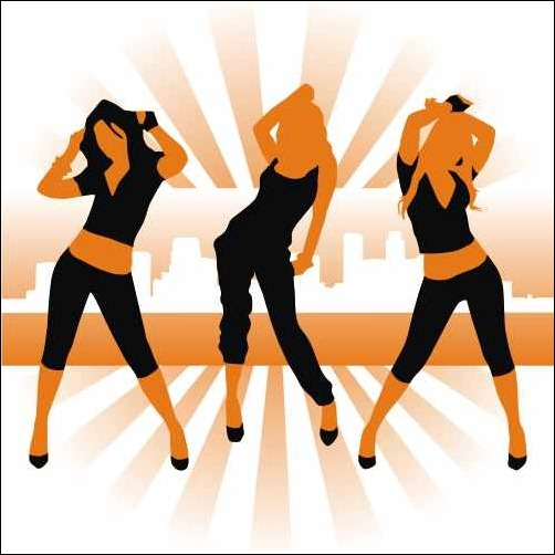 dancing-girl-silhouettes