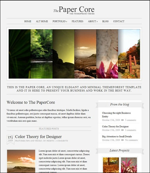 papercore-simple-wordpress-theme