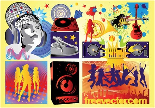 free-music-party-vectors
