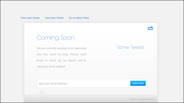 Under construction template - Coming Soon