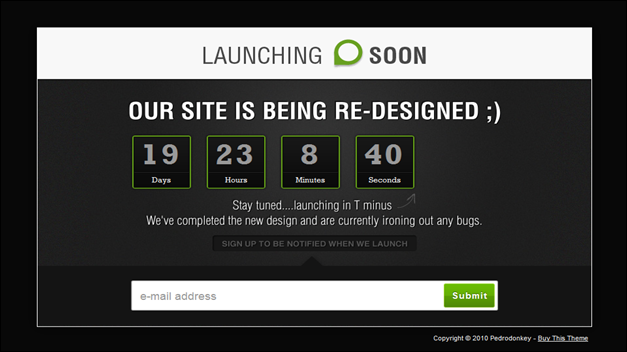 Launching Soon - Under Construction Page