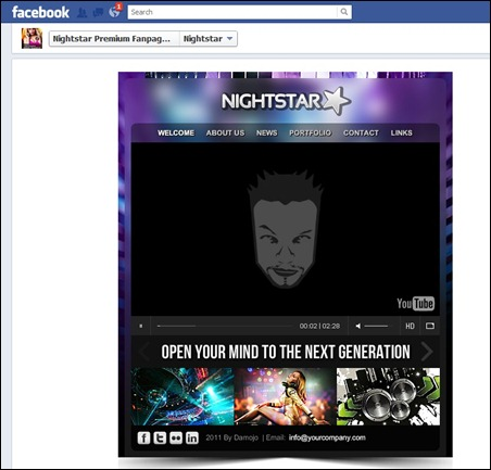 nightstar-facebook-theme