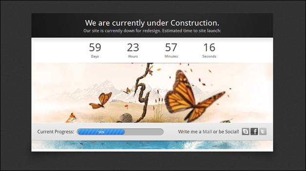 Adele Countdown: 3 in 1 Under Construction Theme