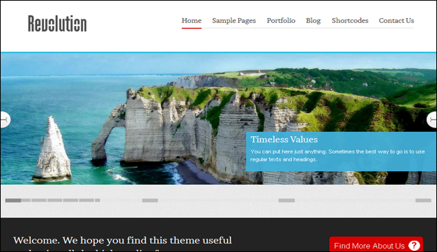 Revolution - one of the beautiful travel WordPress Themes