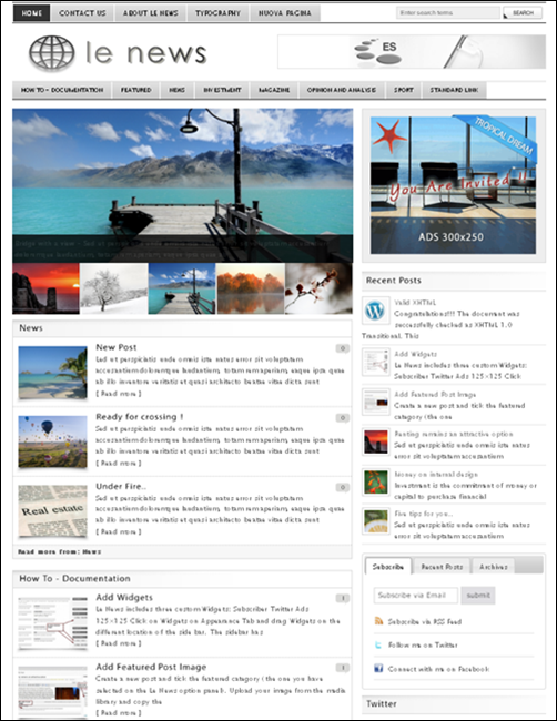 Le News - WordPress News Theme
