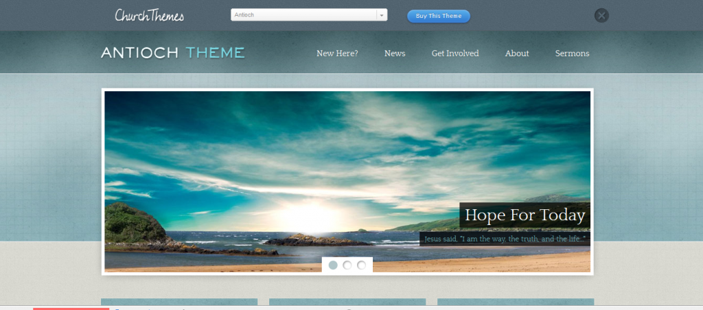 Church website templates antioch