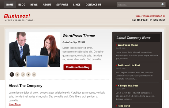 Best Business WordPress Themes for Company Websites-Businezz