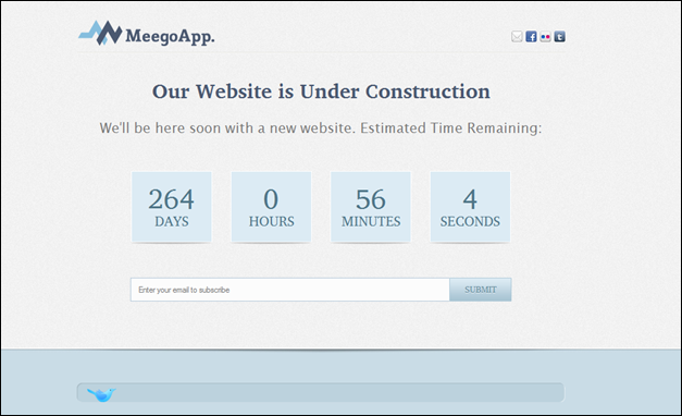 MeegoApp. - XHTML Under Construction template with Bonus WP