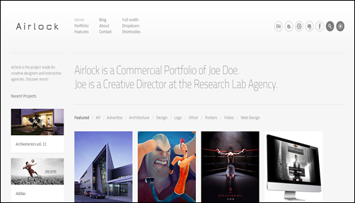 Airlock: Portfolio WordPress Theme