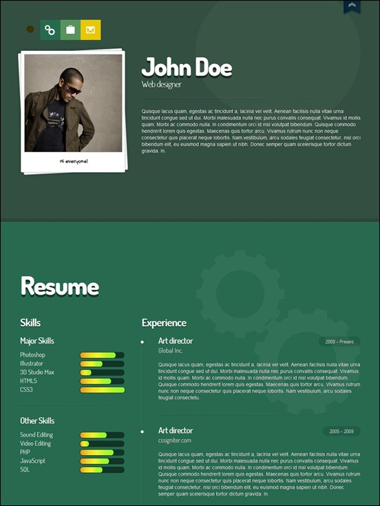 Me vcard wordpress theme