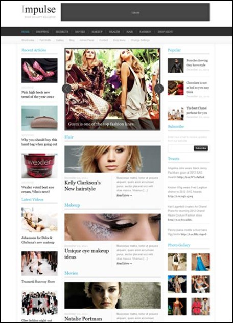 impulse wordpress newspaper theme