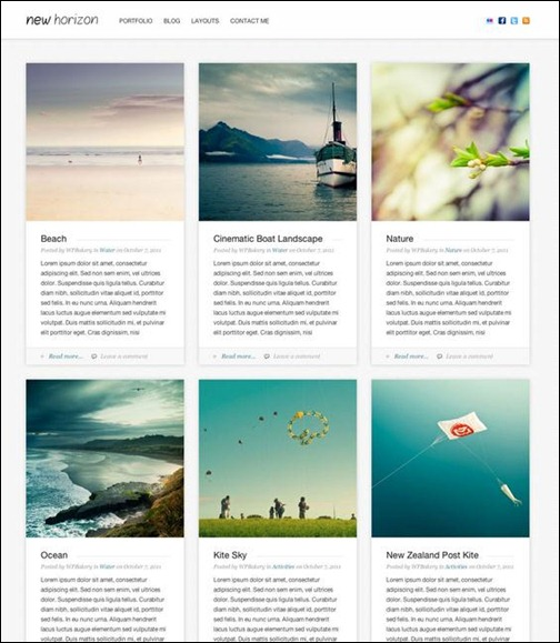 new-horizon-blog-portfolio-wordpress-theme