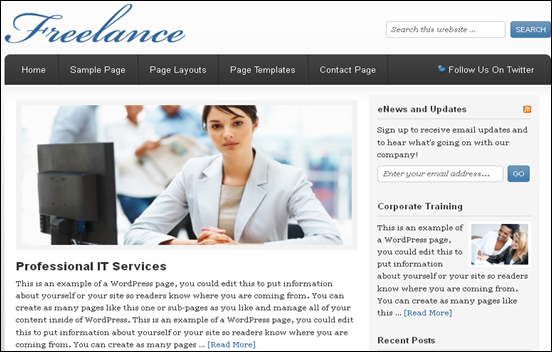 Best Business WordPress Themes for Company Websites-Freelance