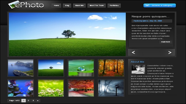 ephoto photography website templates