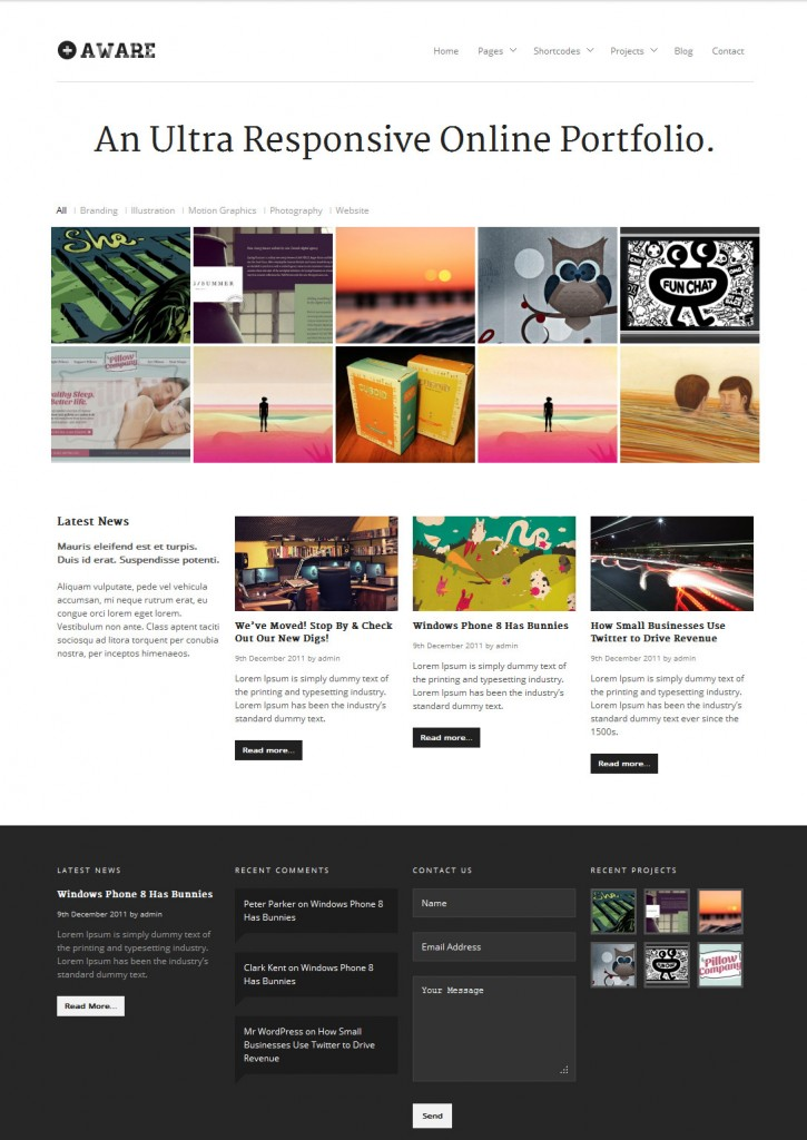 best wordpress themes aware