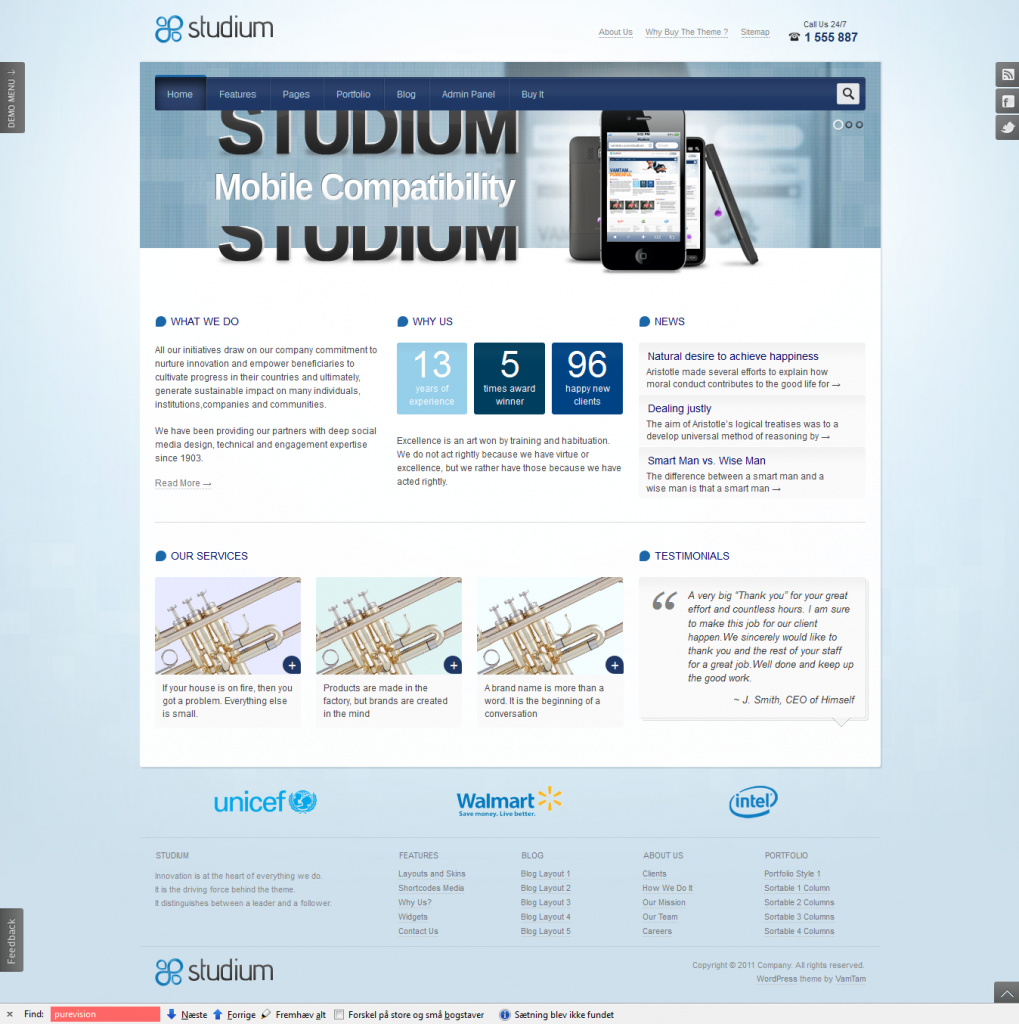 studium business wordpress themes