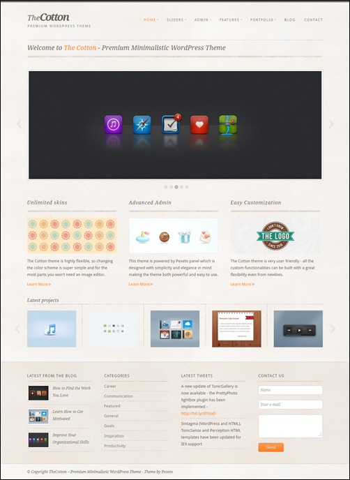 The Cotton – Minimalistic WordPress Business Theme