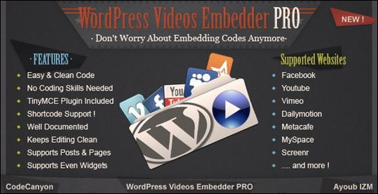 WordPress Videos Embedder PRO