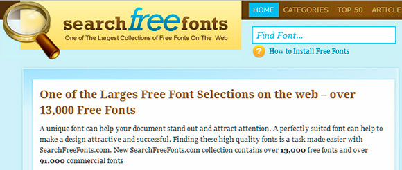 Search Free Fonts