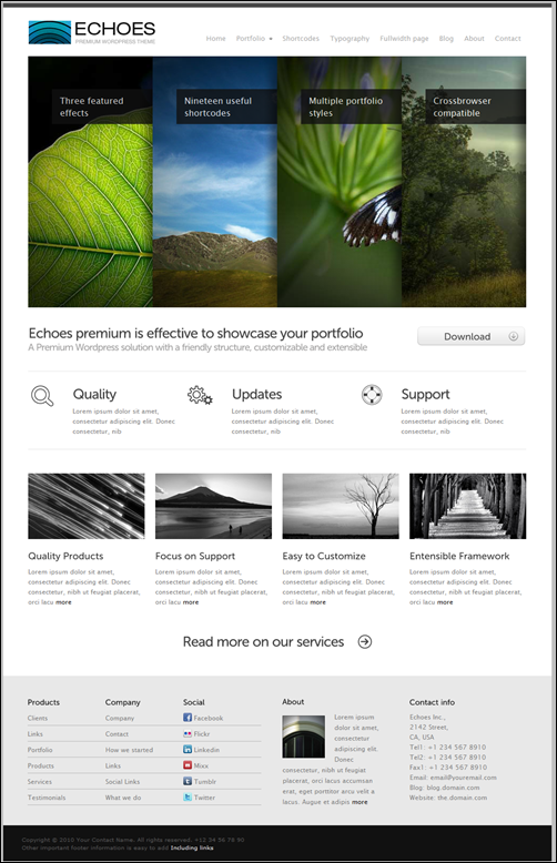 Echoes Premium WordPress 11 in 1