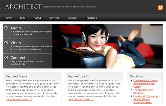 Best Business WordPress Themes for Company Websites-Architect