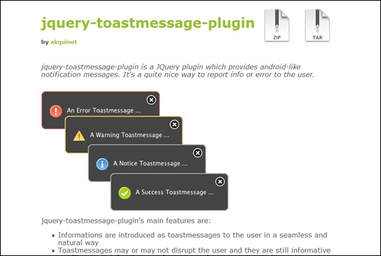 jquery-toast-message-plugin