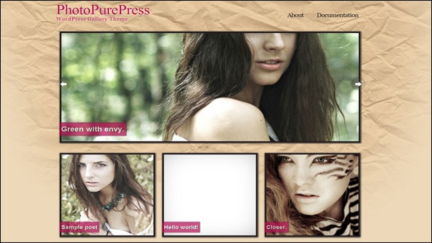 photopurepress photography website templates