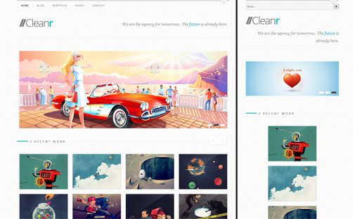 cleanr responsive wordpress portfolio theme