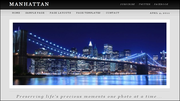 manhattan2 photography website templates