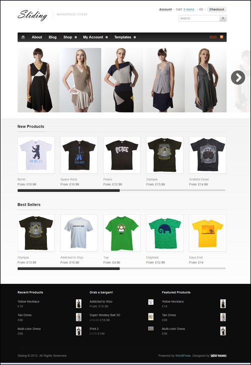 sliding-wordpress-commerce-theme