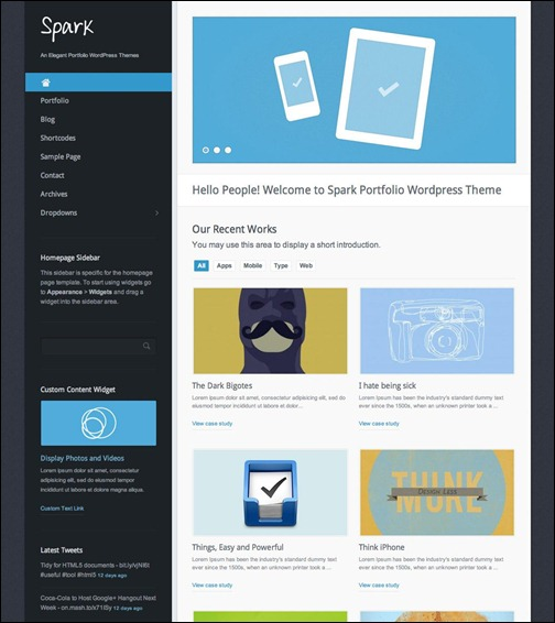 spark-portfolio-wordpress-theme