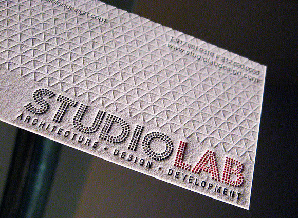 Studio Lab Letterpress Business Cards