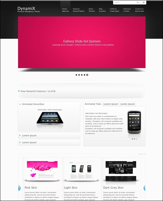 Dynamix page templates