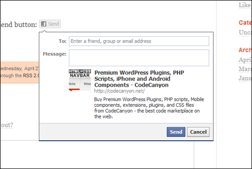 Facebook Send Button Pro