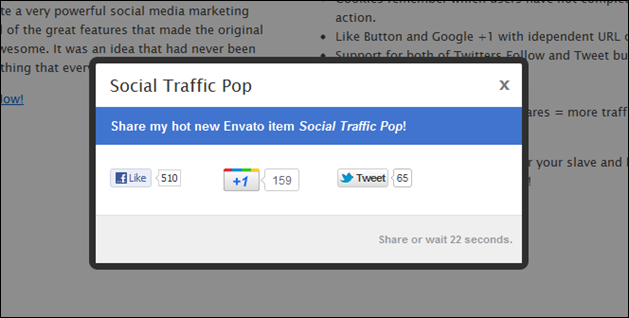 Social Traffic Pop for WordPress
