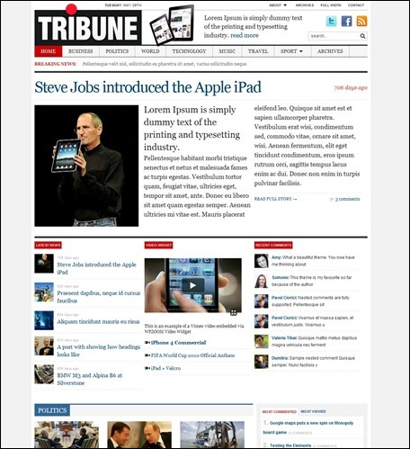 tribune-magazine-news-theme