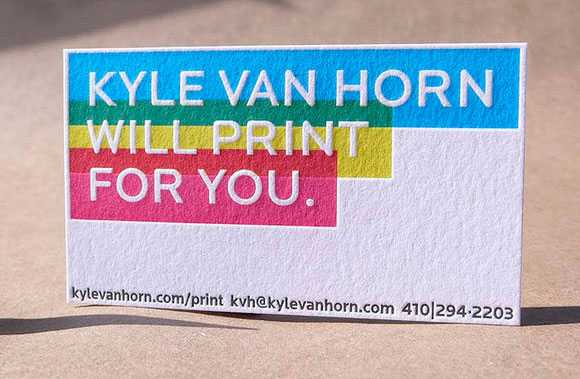 Kyle Van Horn Business Card