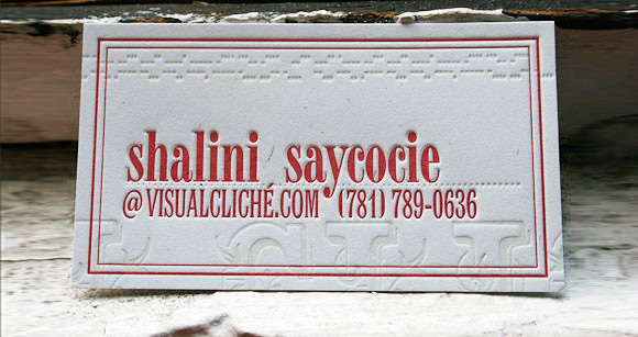 A Letterpress Business Card