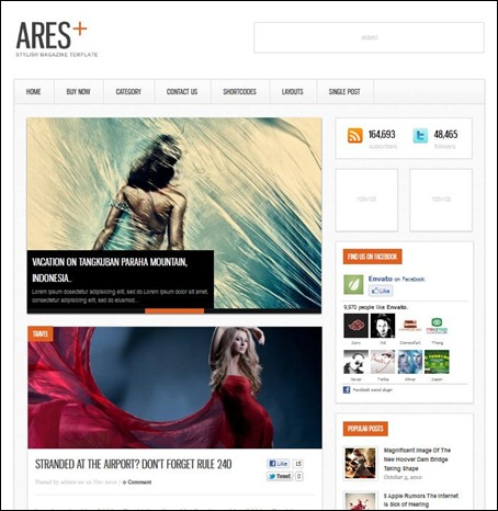 ares-minimal-wordpress-theme