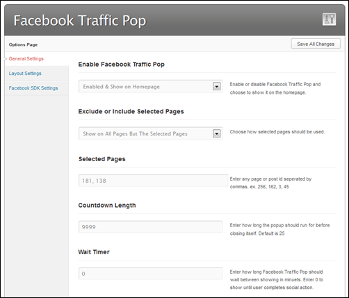 Facebook Traffic Pop PRO