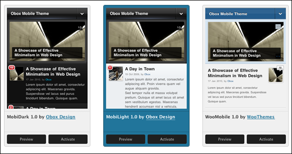 Obox Mobile - WordPress Mobile Framework