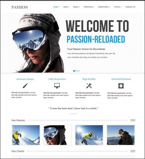 Templates semplici e puliti per wordpress per siti minimali passion business wordpress themethu flashek