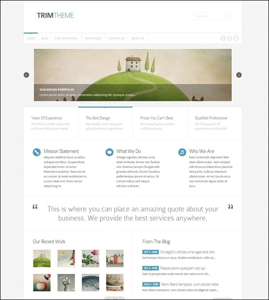 trim responsive wordpress theme