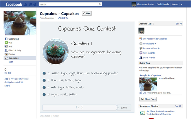 Facebook Quiz Application - WordPress plugin