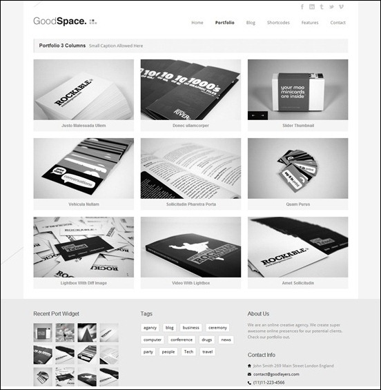 good-space-portfolio-theme