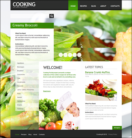 Cooking-drupal-7-theme